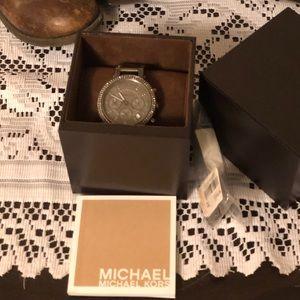 Gray Michael kors watch
